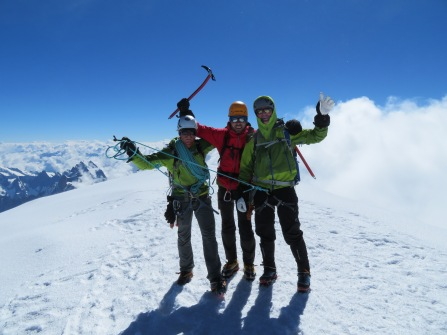 Gipfel des Mont Blanc